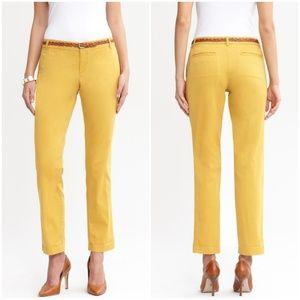Banana Republic Mustard Yellow City Chino Pants